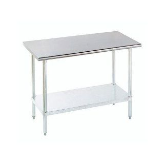 "Advance Tabco ELAG 182 X Stainless Steel Work Table with Galvanized Legs and Undershelf   24"" x 18"""