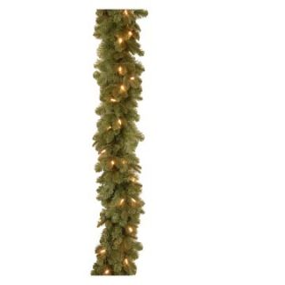 6 ft. Feel Real Noble Deluxe Fir Pre Lit LED Garland   Battery Operated   Christmas Garland