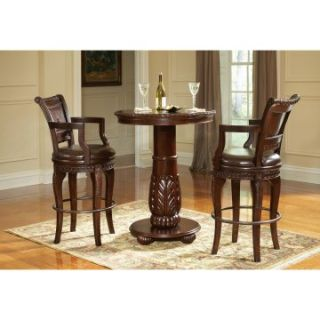 Steve Silver Antoinette 3 Piece Pub Table Set   Cherry   Pub Tables