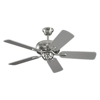 Monte Carlo 5CQ44BS Centro II 44 in. Indoor Ceiling Fan   Brushed Steel   Ceiling Fans