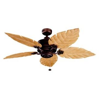 Kichler 320102WCP/370021 52 in. Crystal Bay Outdoor Ceiling Fan   Weathered Copper Powder Coat   Ceiling Fans