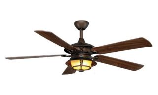 Monte Carlo 5BR52RBD Burnet 52 in. Outdoor Ceiling Fan   Roman Bronze   Outdoor Ceiling Fans