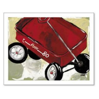 Little Red Wagon   Flyer 80 Wall Art   Kids and Nursery Wall Art