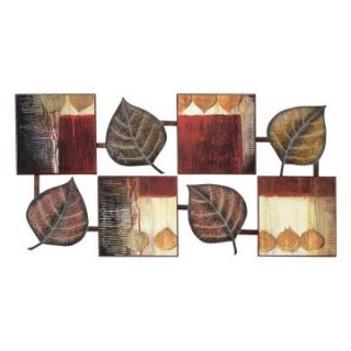 Colorful Abstract Leaf Wall Decor   47W x 24H in.   Wall Sculptures and Panels