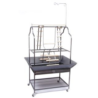 Prevue Pet Products Parrot Playstand Black 3180BLK   Bird Cage Accessories