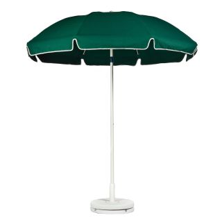 Frankford 7.5 ft. Standard Manual Lift Fiberglass Patio Umbrella with White Pole and Tilt   Patio Umbrellas
