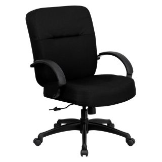 Flash Furniture Hercules Series 500 lbs. Capacity Big and Tall Office Chair with Arms and Extra Wide Seat   Black   Desk Chairs