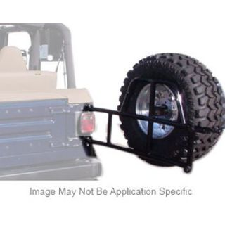 2007 2012 Jeep Wrangler (JK) Spare Tire Carrier   Or Fab, Direct fit, Rear, Wrinkled black