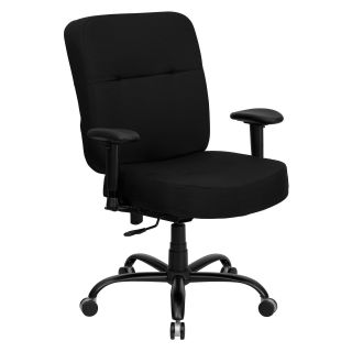 Flash Furniture Hercules Series 500 lbs. Capacity Big and Tall Fabric Office Chair with Extra Wide Seat   Desk Chairs