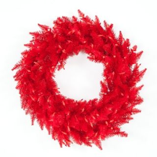 30 in. Red Ashley Pre lit Wreath   Christmas Wreaths