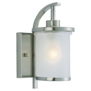 Sea Gull Eternity Outdoor Wall Light   12H in. Brushed Nickel   Outdoor Wall Lights
