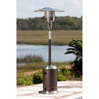 Fire Sense Mocha and Stainless Steel Commercial Patio Heater   Patio Heaters