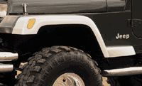 Xenon Tj Style Ultra Wide 6 Pc. Fender Flare Set For Jeep