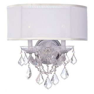 Crystorama Brentwood Swarovski Elements Wall Sconce   15.5W in.   Wall Lighting