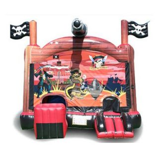 EZ Inflatables Digital Pirate Combo Bounce House   Commercial Inflatables