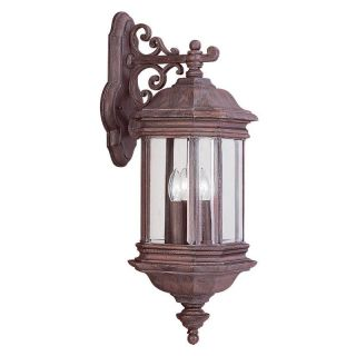 Sea Gull Hill Gate Outdoor Hanging Wall Lantern   25.5H in. Textured Rust   Outdoor Wall Lights