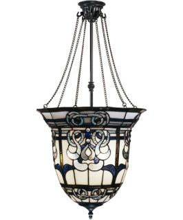 Dale Tiffany Baroque Inverted Hanging Fixture   16.5W in. Antique Bronze Paint   Tiffany Ceiling Lighting