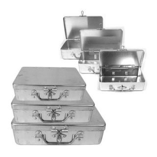 Trademark Global 3 pc. Aluminum Storage Box   Tool Boxes