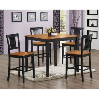 Middlebury 5 Piece Two Toned Wood Pub Table Set   Dining Table Sets