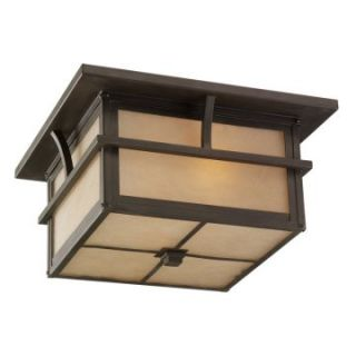 Sea Gull Medford Lakes Outdoor Ceiling Light   7H in. Statuary Bronze   Outdoor Ceiling Lights
