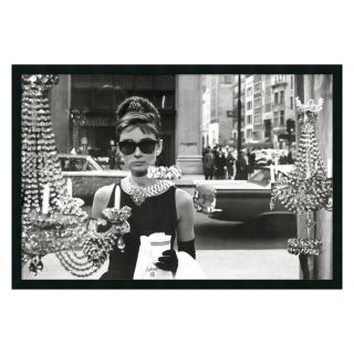 Audrey Hepburn, Breakfast at Tiffany's (Window) Framed Wall Art   37.41W x 25.41H in.   Framed Wall Art