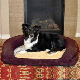 K&H Pet Products Deluxe Ortho Bolster Sleeper Paw   Dog Beds