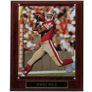 San Francisco 49ers #80 Jerry Rice 10.5 x 13 Over The Shoulder Player Plaque