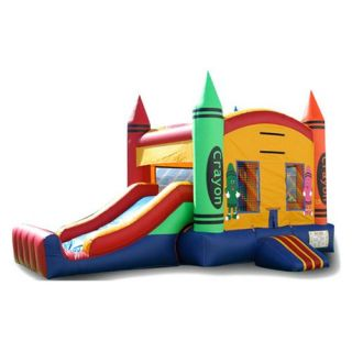 EZ Inflatables Mini Crayon Combo Bounce House   Commercial Inflatables