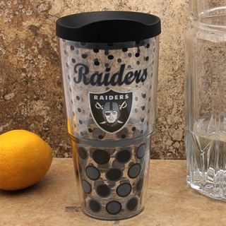 Tervis Tumbler Oakland Raiders 24oz Polka Dot Wrap Tumbler with Lid