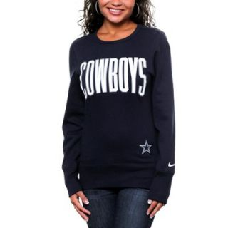 Nike Dallas Cowboys Ladies Tailgater Fleece Sweatshirt   Navy Blue