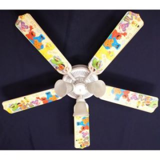 Ceiling Fan Designers Sesame Street Elmo Big Bird Indoor Ceiling Fan   Ceiling Fans