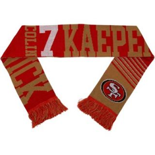 Colin Kaepernick San Francisco 49ers Player Scarf   Scarlet/Gold