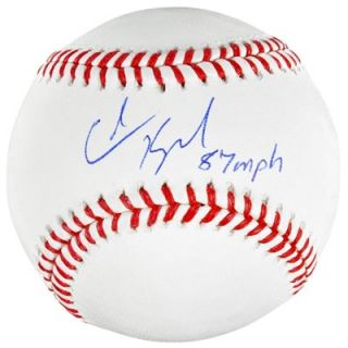 Colin Kaepernick San Francisco 49ers Autographed Baseball with 87 MPH 6/21/13 Inscription