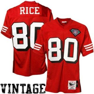 Mitchell & Ness Jerry Rice San Francisco 49ers 1994 Authentic Throwback Jersey   Cardinal