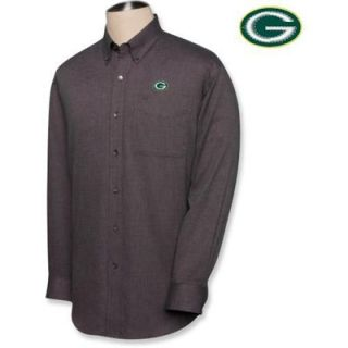 Cutter & Buck Green Bay Packers Mens Big & Tall Nailshead Long Sleeve Shirt