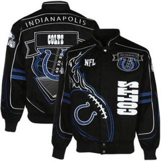 Indianapolis Colts Black On Fire Full Button Twill Jacket