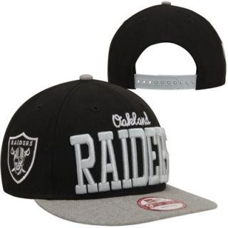 New Era Oakland Raiders Rethered 9FIFTY Snapback Hat   Gray/Black