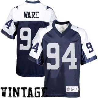 Reebok DeMarcus Ware Dallas Cowboys Premier Throwback Jersey   Navy Blue