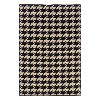 Linon Salonika Houndstooth Area Rug   5 x 8 ft.   Area Rugs