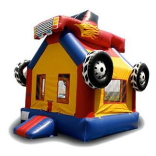 EZ Inflatables Monster Truck Bounce House   Commercial Inflatables