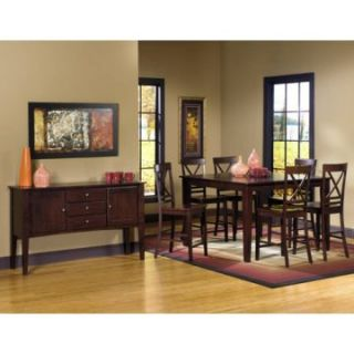 Progressive Furniture Winston 7 Piece Counter Height Dining Table Set   Dining Table Sets