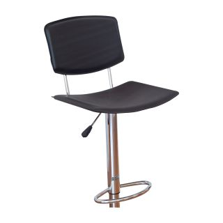Winsome Wood Adjustable Single L Back Air Lift Swivel Bar Stool   Bar Stools