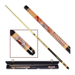 Siberian Tiger Billiard Pool Cue Stick with Case   Pool Cues