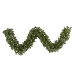 Vickerman 9 ft. x 14 in. Pre Lit LED Grand Teton Garland   Clear   Christmas Garland