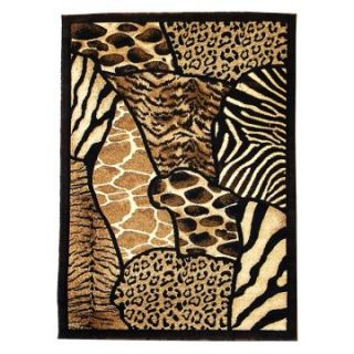 DonnieAnn SK70 Skinz Area Rug   Brown   Area Rugs