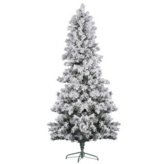 Vickerman Flocked White Pine Christmas Tree   Christmas Trees