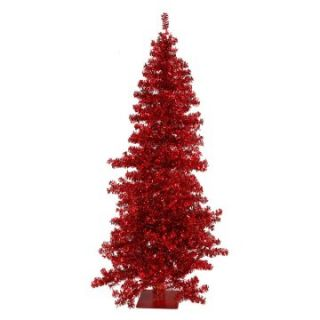 Vickerman Red Pre lit Wide Cut Christmas Tree   Christmas Trees