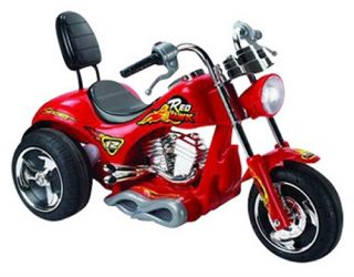 Red Hawk Motorcycle Battery Powered Riding Toy   Red   Battery Powered Riding Toys