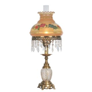 Dale Tiffany Hand Painted Hurricane Table Lamp   Tiffany Table Lamps