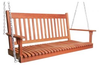 New River New Haven 4 ft. Brazilian Cherry Porch Swing   Porch Swings